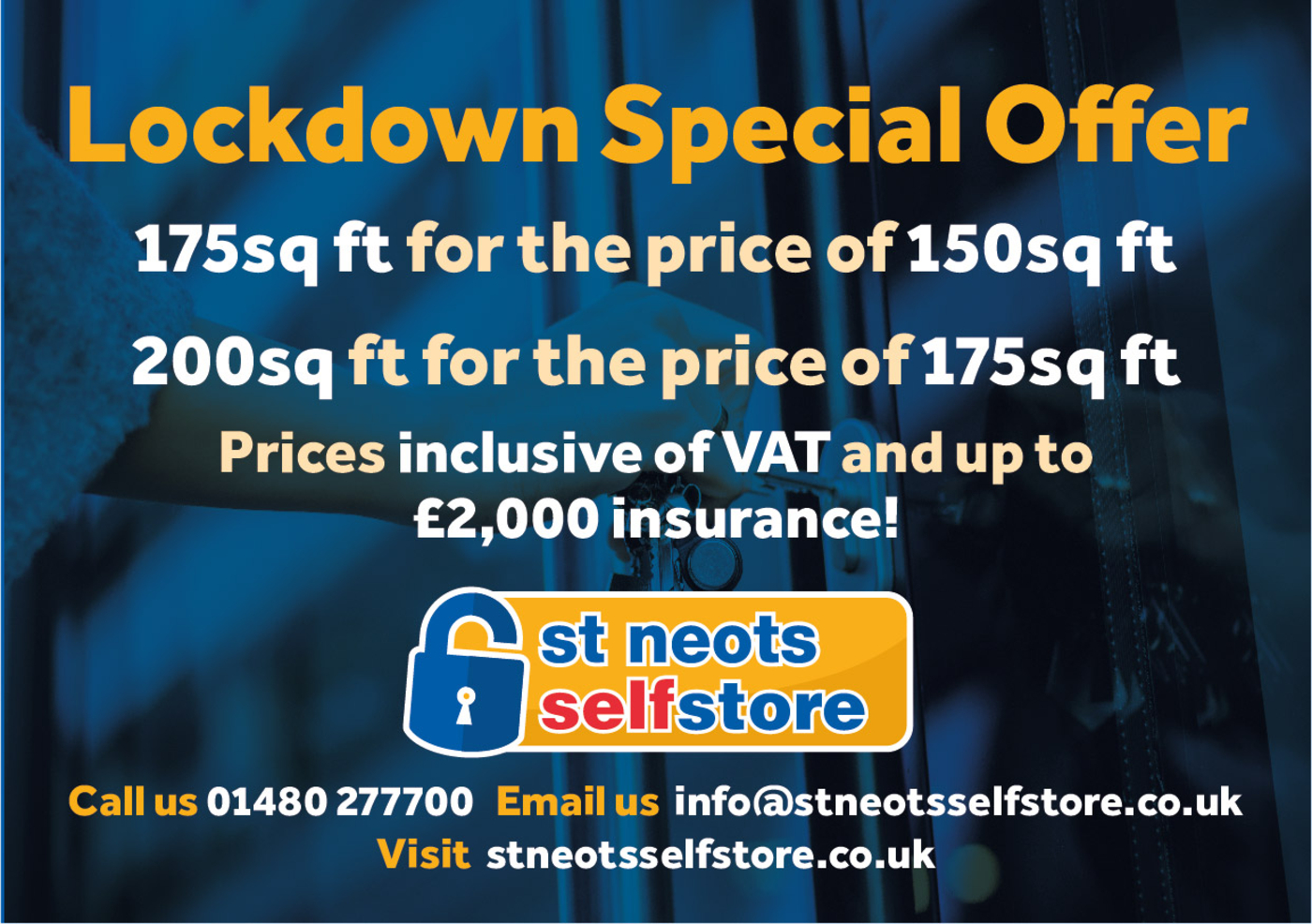 Lockdown Offer - St Neots Self Store